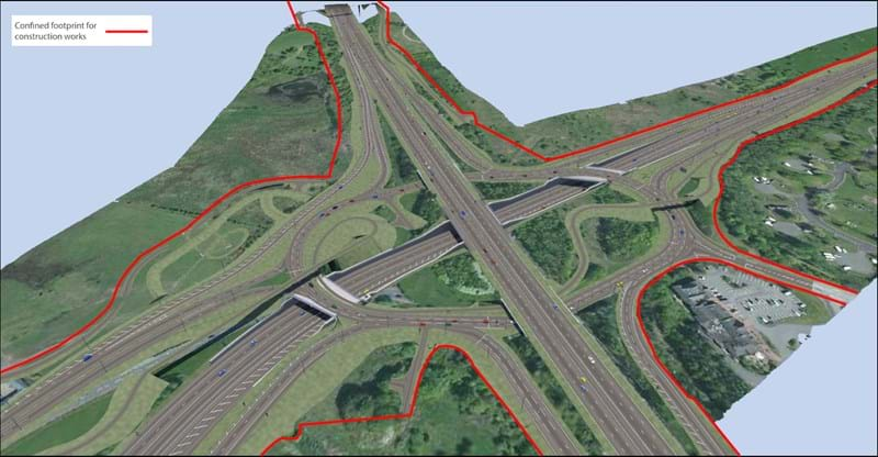 M8 Raith Interchange BIM Model - Scotland