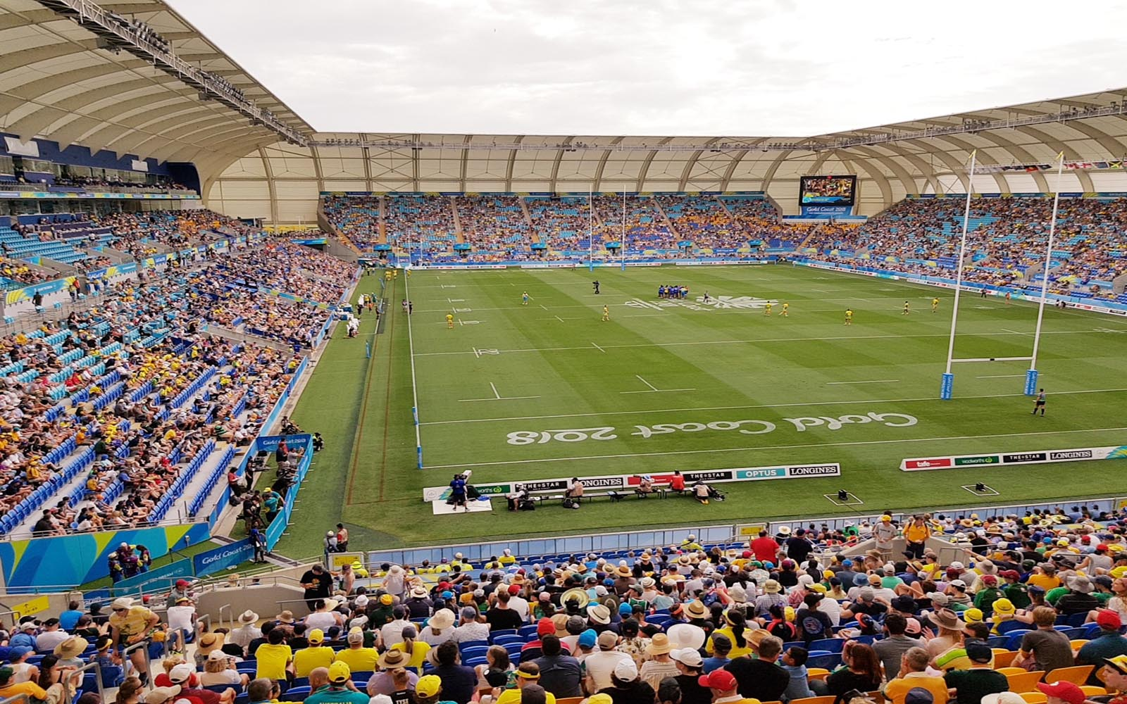 Packed crowd in stadium for 2018 Commonwealth Games