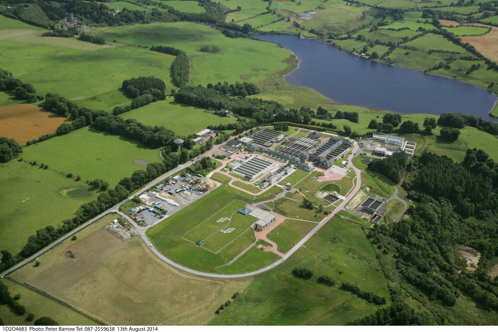 Aerial photo of Ballymore Eustace Water Treatment Plant