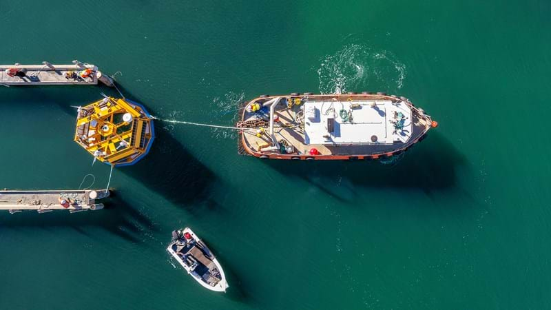 Floating lidar sea trial metocean measurement