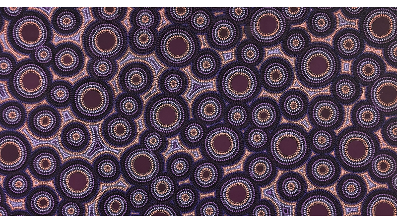Ngapa Jukkurrpa (Water Dreaming) - Puyurru, acryclic on canvas Leavannia Nampijinpa Watson