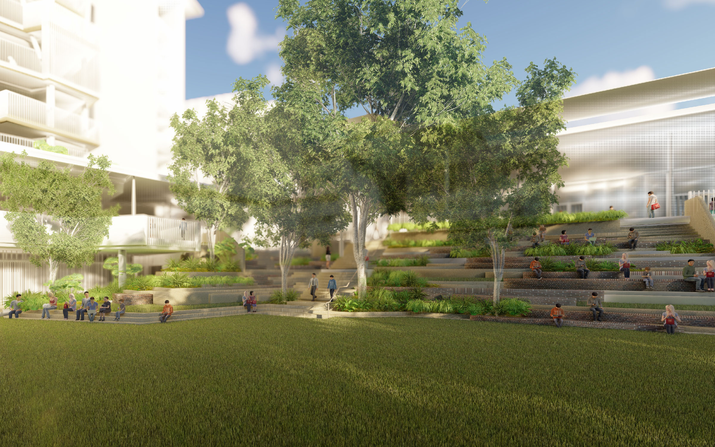 Fortitude Valley State Secondary School landscape scheme concept