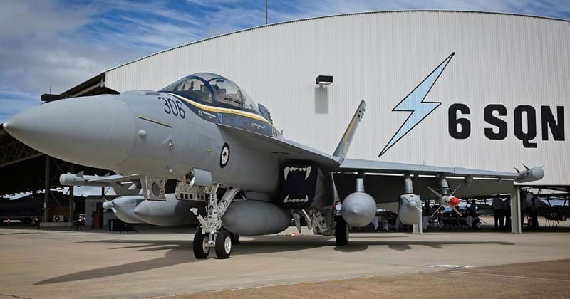 A freshly painted No. 6 Squadron E/A-18G Growler marks the Squadron's 100th anniversary.