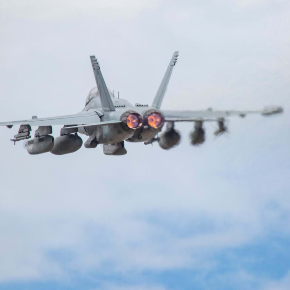 A RAAF E/A-18G Growler, from No. 6 Squadron, takes off from RAAF Base Darwin during Exercise Diamond Storm