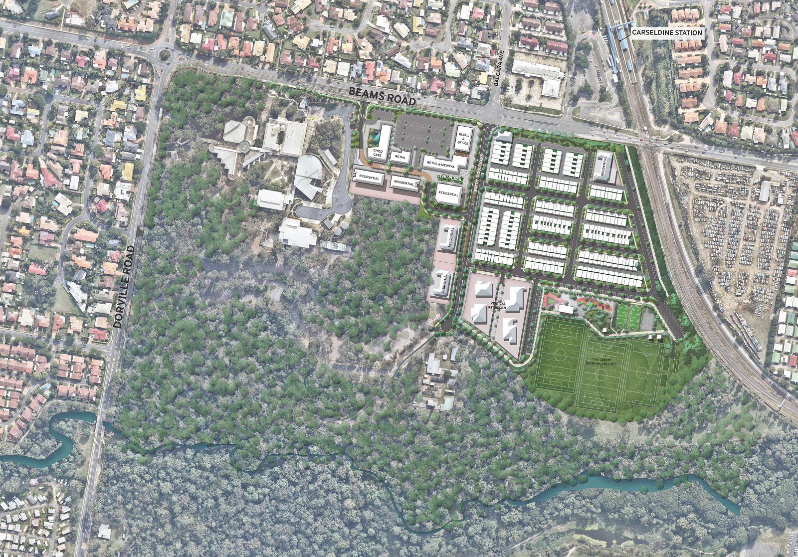Carseldine Urban Village Masterplan Design