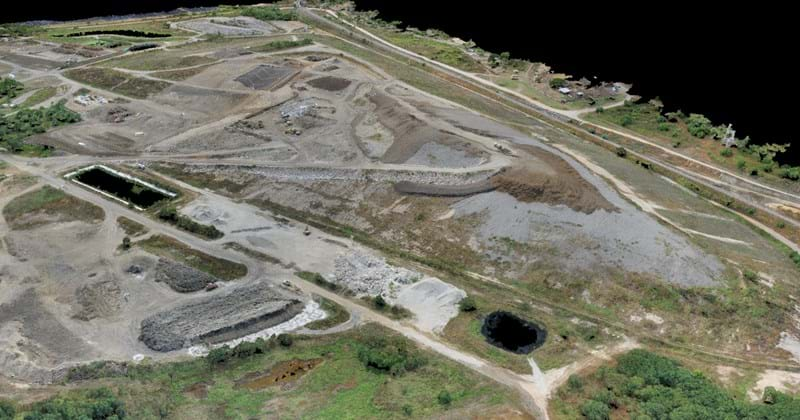 Aerial shot of Townsville City Council Landfill site
