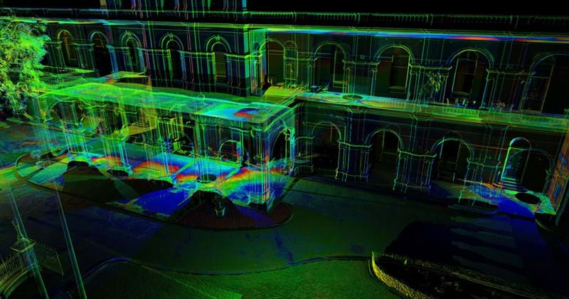 laser scanning, parliament house intensity