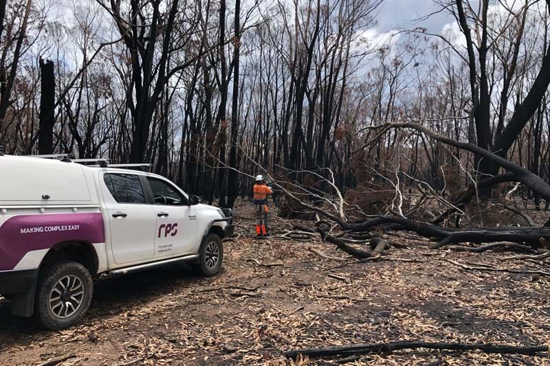 RPS bushfire specialist on site