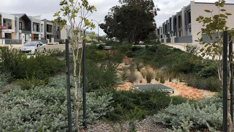 Water infrastructure at Bushmead redevelopment project, Perth, Western Australia