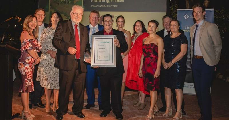 RPS Northern Territory team celebrating wins at the 2019 Australian Institute of Project Management (AIPM)